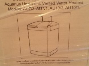 UNDERSINK VENTED WATER HEATER, STANTON AQUARIUS 10lts