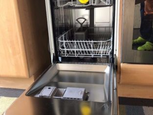 "INTERGRATED DISHWASHER, NEFF ""SLIMLINE"" LESS THAN 2 YEARS OLD"