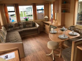 8 berth static family caravan, cheap