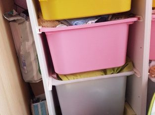 Childrens storage unit – Ikea Trofast – with boxes collection antrim