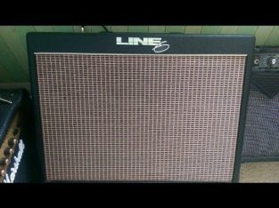 As New Line 6 flextone 2 amp, With long floor board and manual