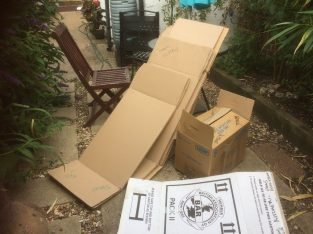 Used Assorted cardboard packing boxes