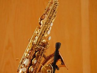 For sale Bauhaus Waldstein curved Soprano Saxophone with 2 mouthpieces, stand and case