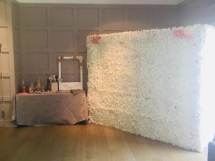 Wedding baby shower event – Donut wall candy cart flower wall to hire