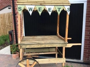 Used once Solid Wooden Display Cart