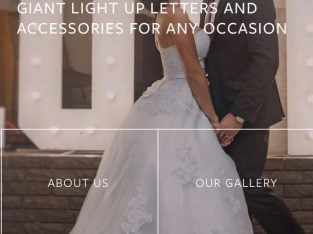 For any occasion and event – Light up Giant Letters & Accesories to hire