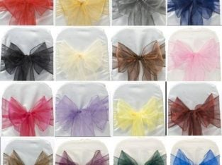 ORGANZA SASH CHAIR COVER BOWS FOR WEDDING PARTY HIGH QUALITY SOFT SASH